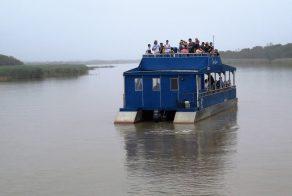 River boat safari in Africa